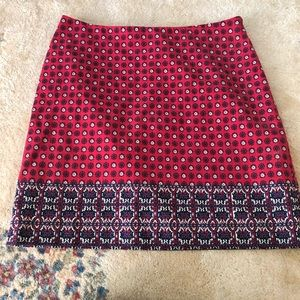 Talbots Red White and Blue Skirt Size 10